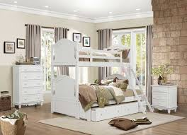 Bunk Bed Nightstand Homelegance Clementine Twin Twin Bunk Bed White B1799 1