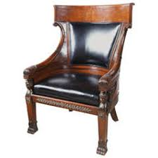 french empire period mahogany armchair with swans u0027 heads for sale