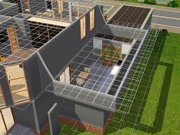 mod the sims how to build a flat roof with a wall near