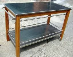 stainless steel top kitchen cart kitchen island stainless steel top kitchen cart w stainless steel