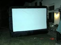 projector screen review gemmy inflatable outdoor screen