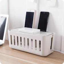 phone charger organizer household table top power cable storage box power strip wire