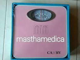 Timbangan Berat Badan Terbaik jual timbangan berat badan analog jarum pegas manual camry pink