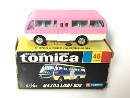 mazda made in made in japan tomy tomica no 46 mazda light bus 1 88 diecast bus