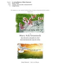 Memorial Invitation Cards Digital Electronic Sympathy And Memorial Announcements Warren