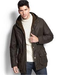 barbour winter durham jacket in green for men lyst