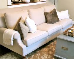decor fabulous adorable white sofa and beautiful brown rug plus