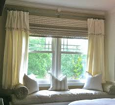 Window Box Curtains Window Curtain Lovely How To Put Curtains On A Bay Window How To