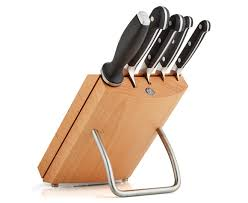 zwilling pro wooden knife block set ebay