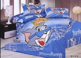 Childrens Duvet Covers Double Bed Kids Gift Tom Jerry Blue Print Cotton Bedding Set Children U0027s Duvet