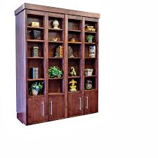 Wall Bookcase With Doors Bookcase Murphy Wall Bed Wilding Wallbeds