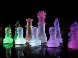 black chess dark glass art walldevil