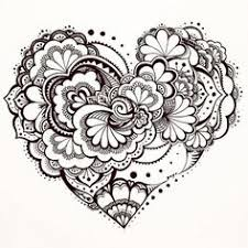 abstract heart coloring pages for grown ups drawing painting