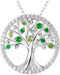fine chain pendant necklace images Elda and co the tree of life necklace fine sterling silver peridot jpg