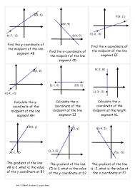 Midpoint Of A Line Segment Worksheet Gradient U0026 Length Game