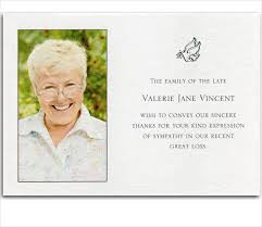 funeral thank you cards 6 bereavement thank you cards free sle exle format