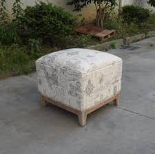 French Style Ottoman by Sale French Style Wood Frame Linen Fabric Sitting Pouf Ottoman