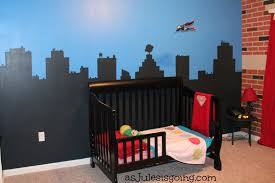 boy s room cityscape wall as jules is going