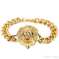 chain link bracelet charms images 18k gold lion charm bracelet silver hip hop jewelry punk big chain jpg