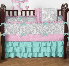 Pink And Teal Crib Bedding by Baby Girl Pink And Green Bedding Ktactical Decoration