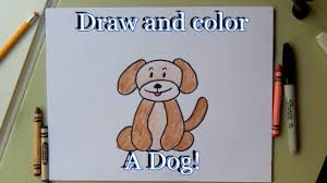 how to draw a cartoon dog step by step for kids easy video