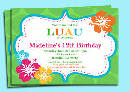 fabulous luau party invitation wording ideas for rustic article