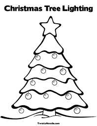tree outline image kids coloring
