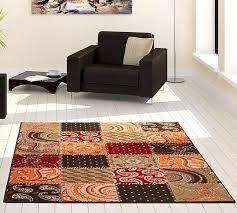 teppiche design velours design teppich patchwork rot terra braun teppiche