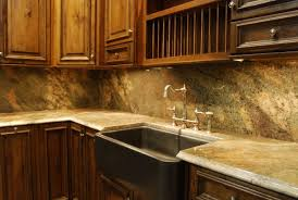granite countertop cabinets painted white backsplash tile stone