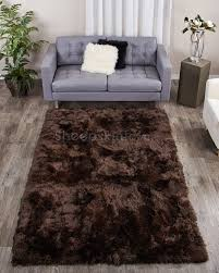 Hypoallergenic Rug Brown Rectangle Sheepskin Area Rug By Bowron