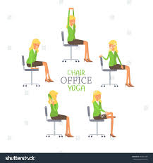 Computer And Desk Stretches Desk Chair Desk Chair Yoga Businessman Lotus Office Pose