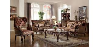 fabric living room sets french provincial living room set 685 in brown fabric