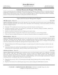 Bar Resume Examples by Restaurant Resume Objective Resume Restaurant Sample Resume Format