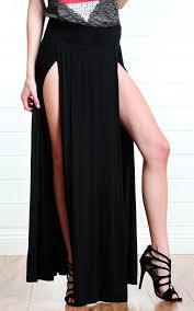 black maxi skirt with slit miranda slit maxi skirt black fashion struck