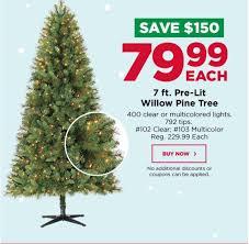 michael s 7ft pre lit tree 79 99 shipped reg 230