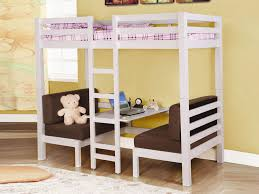 Study Bunk Bed Frame With Futon Chair Metal Loft Bed With Desk And Futon Chair Popular Phenomenon Of