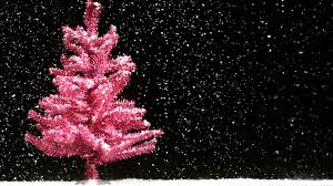 pink tree snowfall stock footage videoblocks