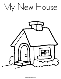 coloring page house my new house coloring page twisty noodle