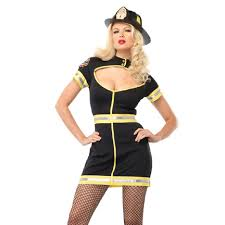 Firefighter Halloween Costume Flirty Firefighter Costume Black Dress Firefighter Costumes