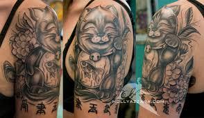 tattoo cat neko cat sleeve tattoo google search tattoo ideas pinterest