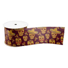 skull ribbon skull craft ribbon zazzle
