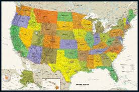 Paper Towns On Maps Contemporary Usa Wall Map