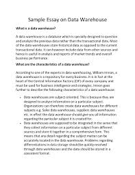 Data Warehouse Resume Sample by Sample Essay On Data Warehouse