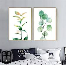 online get cheap art drop aliexpress com alibaba group drop shipping watercolor tropical plant leaf canvas art print poster wall pictures for home decoration giclee