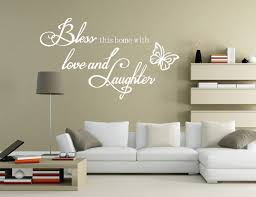 wall decals stickers home decor home furniture diy x large bless love and laughter hollow butterfly wall sticker decal uk sh178