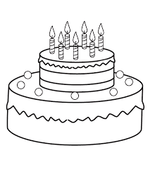 birthday cake coloring pages with seven candles coloringstar