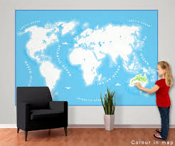 simple world map wall mural 232cm x 158cm our