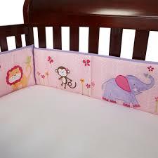 Nojo Jungle Crib Bedding by Little Bedding By Nojo 4 Piece Tumble Jungle Secure Me Crib Bumper