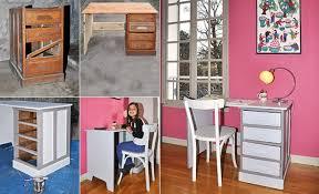 fabriquer bureau enfant restauration d un bureau et caisson à tiroirs