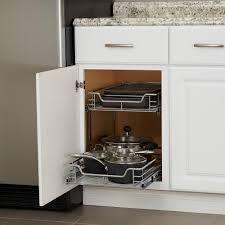 home depot kitchen cabinet organizers design trends 14 5 in dual slide 2 tier standard organizer